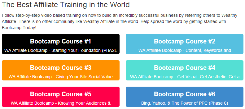 wealthy affiliate best affiliate training