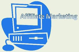 computer with the words affiliate marketing