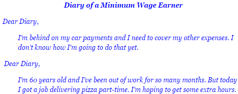 diary of a minimum wage earner
