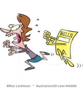 bills running after a person