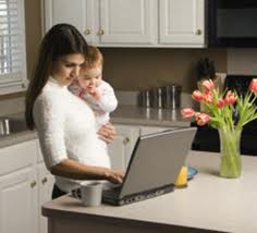 work-at-home-mom-with-child