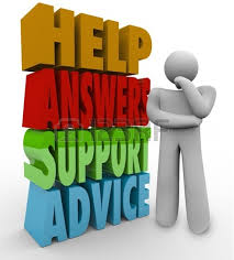 help answers support advice