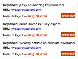 keyword rank summary