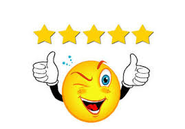 smile face five star rating
