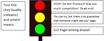 traffic light with kqi explanation