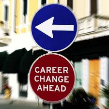 sign saying career change ahead