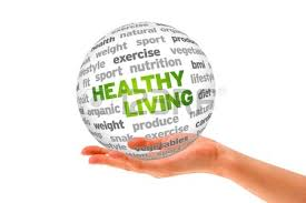 a ball in the palm of a hand with the words healthy living