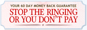 stop the ringing money back guarantee