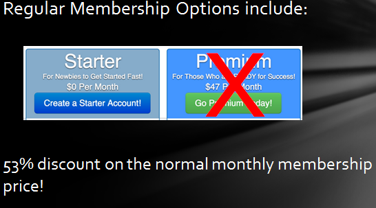 black Friday online special membership oftions