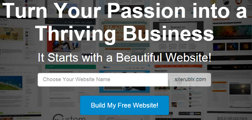build a stunning free website