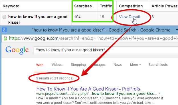 Google comparison and WA results