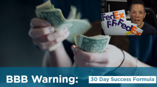 30 day success formula BBB warning