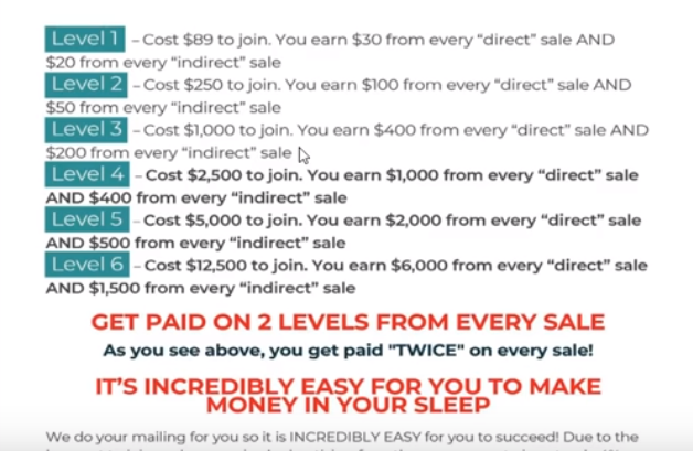 30 Day Success Formula Levels & Cost